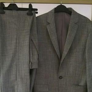 Topman Grey Sharkskin Suit